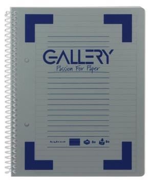Gallery Traditional spiraalschrift ft A5, gelijnd, geassorteerde kleuren, 160 bladzijden