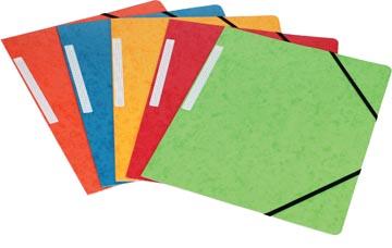 Pergamy elastomap 3 kleppen, geassorteerde kleuren, pak van 10