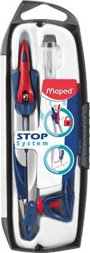Maped passer Stop System, 3delige passerdoos met 1 passer Stop System, 1 universeel inzetstuk, 1 kokertje