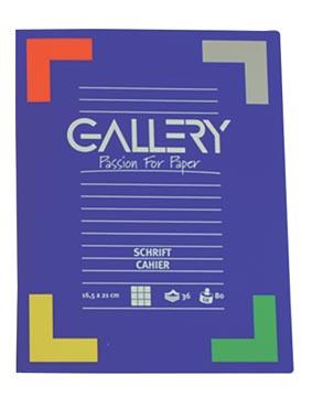 Gallery schrift, ft 16,5 x 21 cm, geruit 5 mm, 72 bladzijden