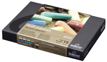 Rembrandt softpastels, starterset met 15 halve pastels