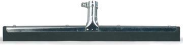 Vloerwisser uit metaal, met zwarte mousse 45 cm
