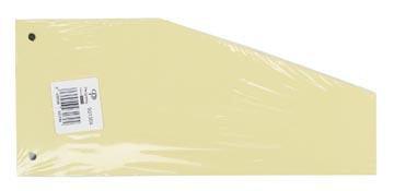 Pergamy trapezium verdeelstroken, pak van 100 stuks, geel