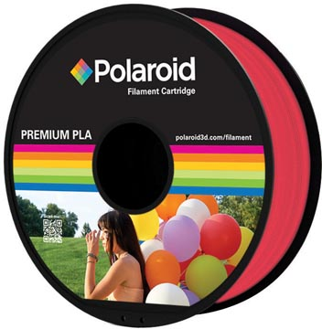 Polaroid 3D Universal Premium PLA filament, 1 kg, rood transparant