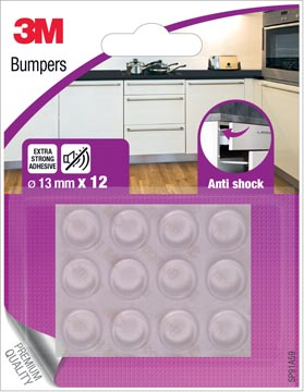 3M Bumpers, Anti shock, 13 mm, blister van 12 stuks