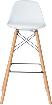 Paperflow set van 2 barstoelen Steel, wit